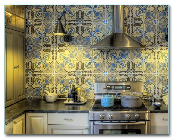 Кухонный фартук своими руками. Плитка, фото.