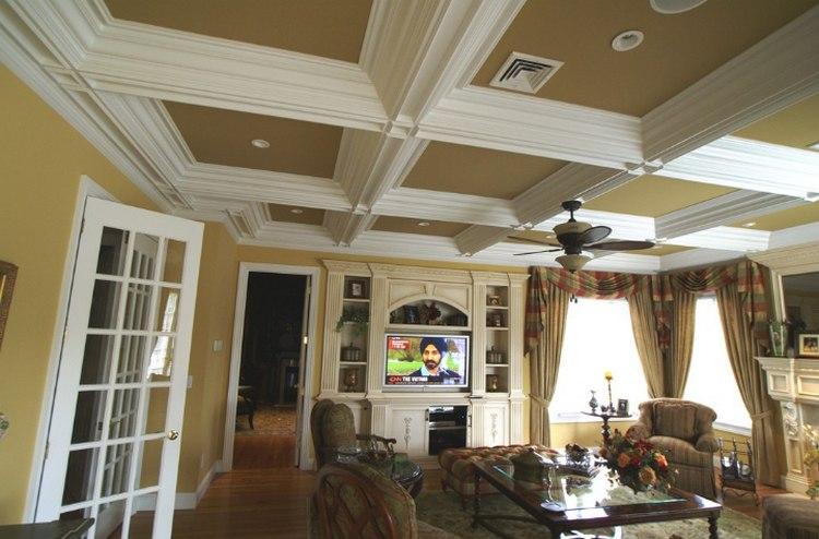 Кессонные потолки - фото. Что это и особенности их устройства