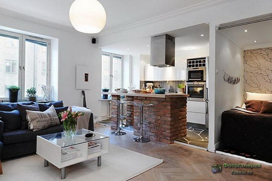 Дизайн однокомнатной квартиры 40 кв.м