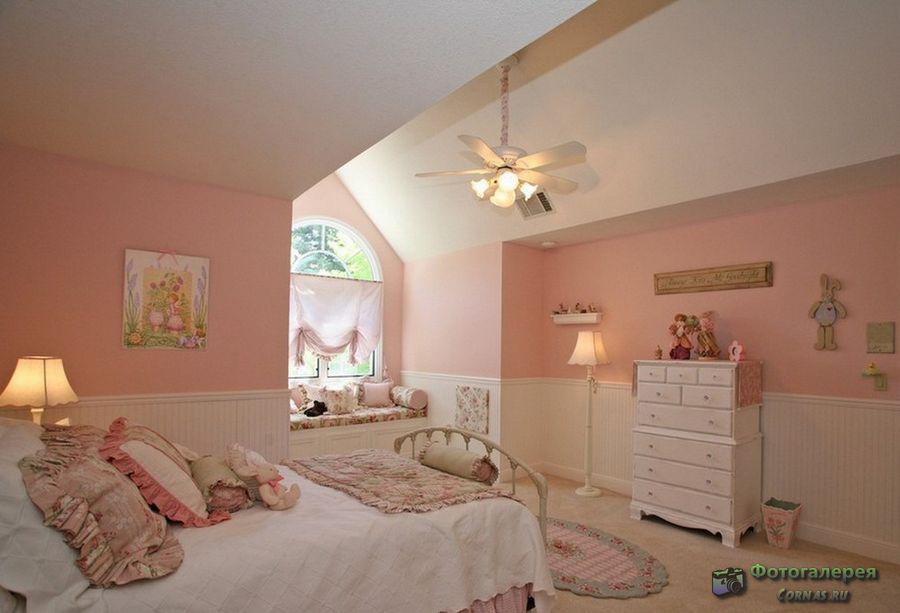 Интерьер детских комнат для девочек. Фото