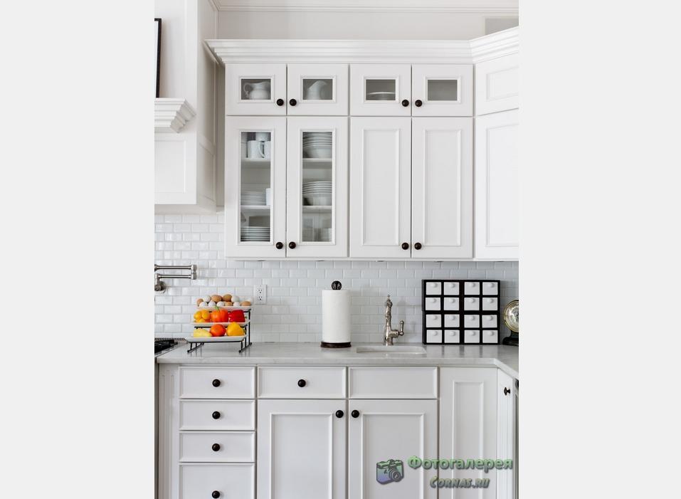 Дизайн белой кухни фото