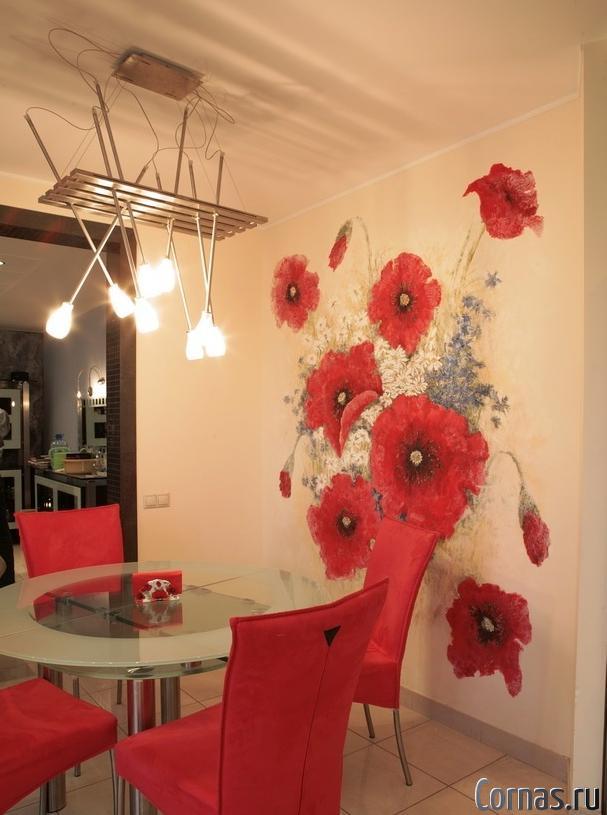 Декорирование интерьера: роспись стен.Способы