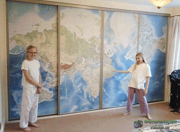 Карты в интерьере. Способы оформления, урок географии!!!