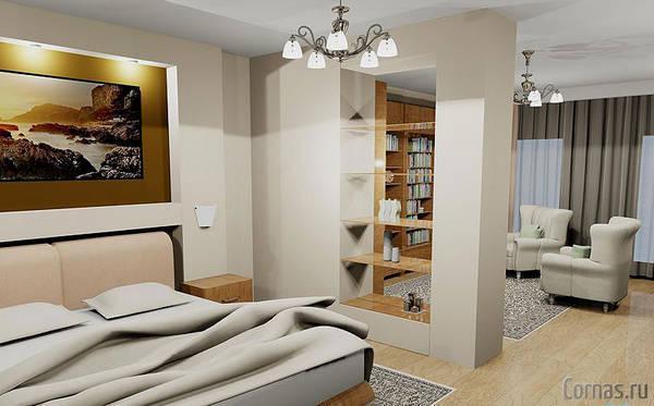 Дизайн однокомнатной квартиры 35 кв.м