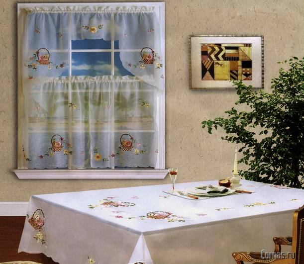 Дизайн штор для кухни фото