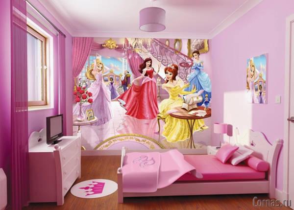 Обои для детской комнаты для девочки. Фото
