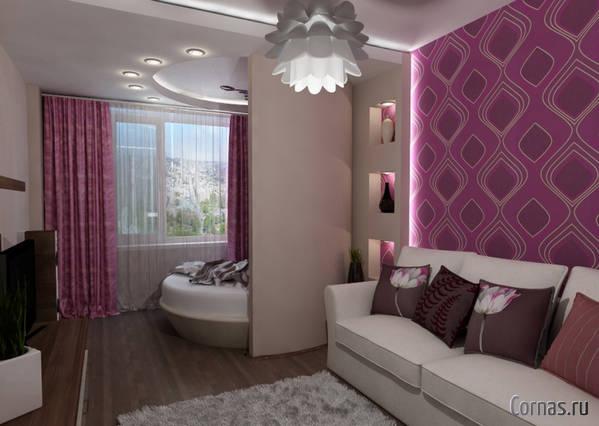 Дизайн однокомнатной квартиры 37 кв.м фото