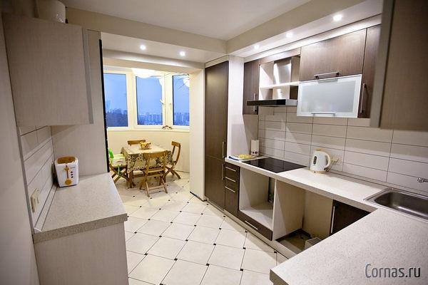 Дизайн кухни с балконом фото. Совмещаем два пространства