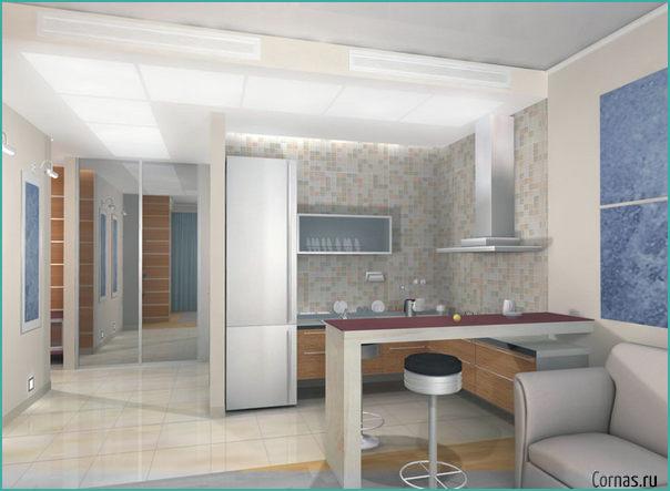 Дизайн студии 27 кв.м