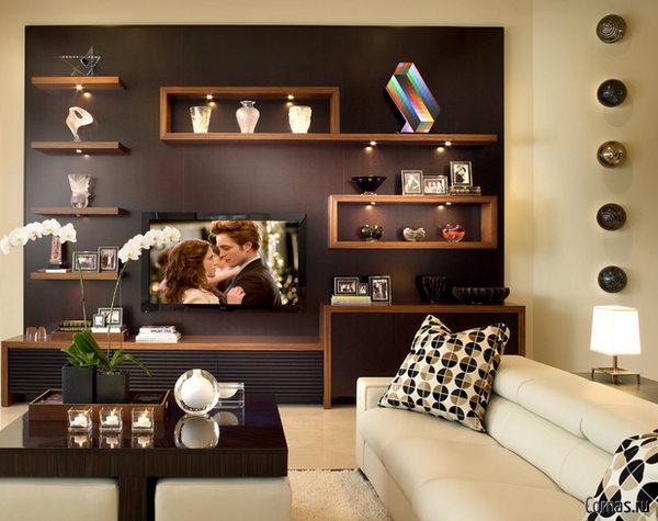Дизайн комнаты в однокомнатной квартире: элементы стиля в интерьере