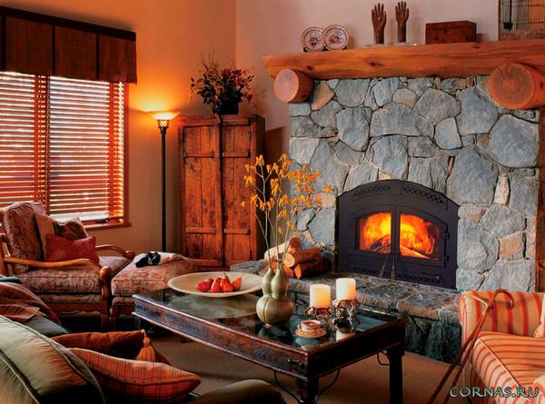 Красивый дизайн гостиной с камином: источник подлинного уюта!