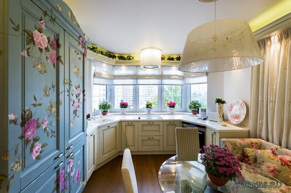 Дизайн кухни с эркером: фото идеи оформления