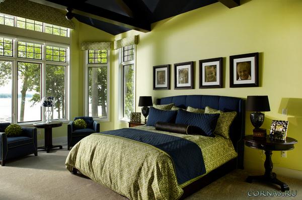 Зеленая спальня: тонкости оформления дизайна