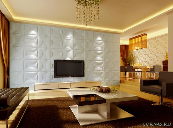 3D панели для стен: фото галерея эффектного декорирования интерьера