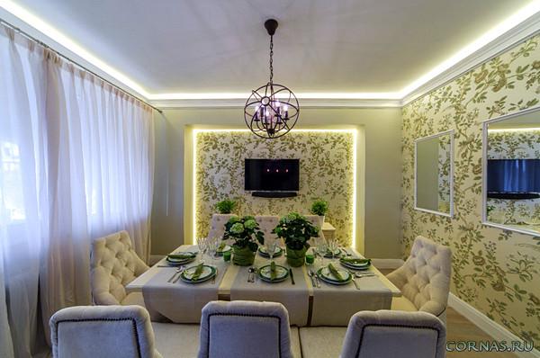 Подсветка потолка светодиодной лентой: делаем современный и красивый интерьер