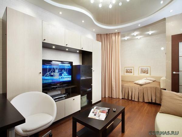 Дизайн квартиры студии 25 кв.м: фото, варианты зонирования и практические советы.