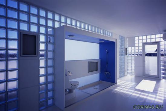 Стеклоблоки в интерьере -  практично и современно! Фото идеи 2021