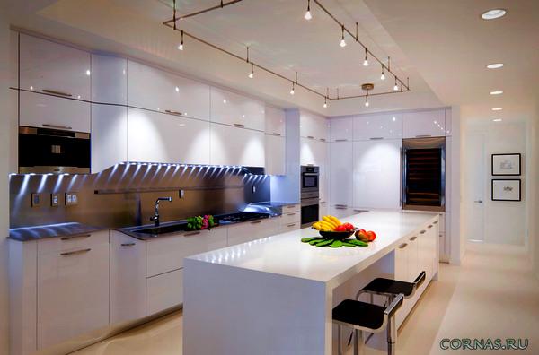 Освещение на кухне: виды и тонкости реализации