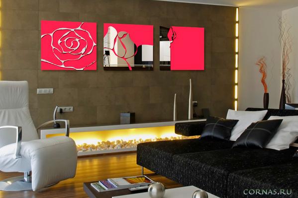 Зеркальные наклейки на стены - эффектно украшаем интерьер