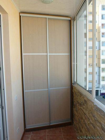 Шкаф на балкон и лоджию - фото варианты и особенности устройства