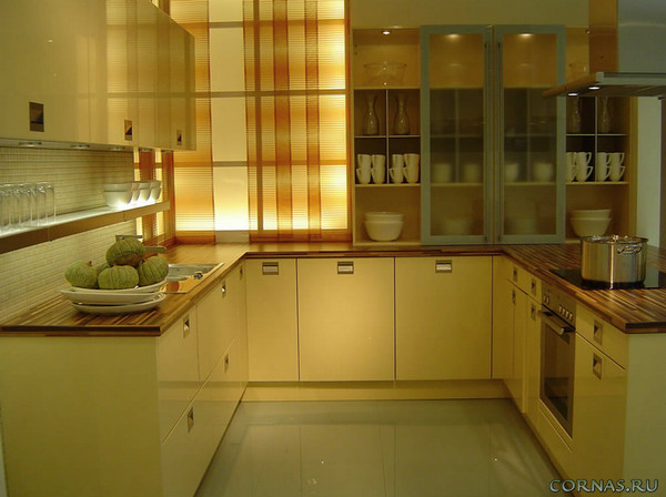 Угловые кухни: фото, оформление, дизайн
