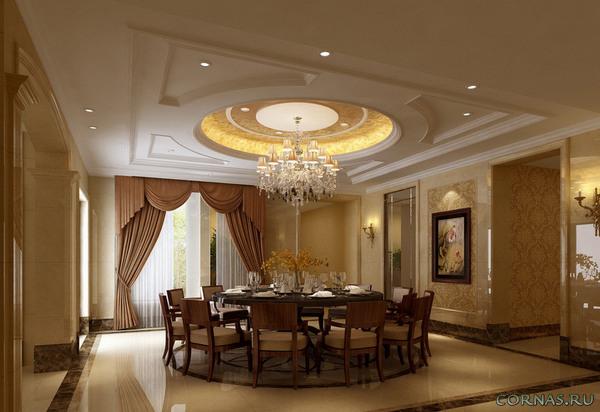 Потолок из гипсокартона - фото лучших, красивых конструкций