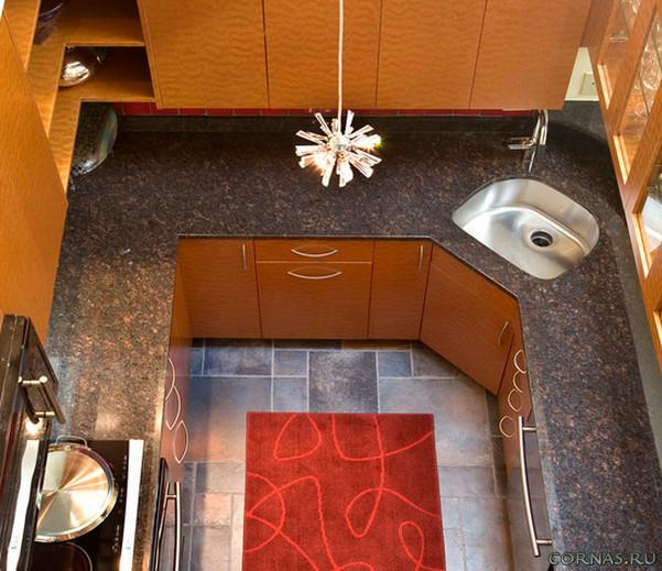 Кухня с угловой мойкой фото