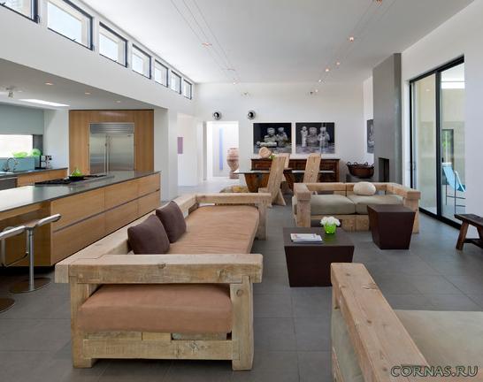 Мебель из натурального дерева - экологично и красиво. Фото