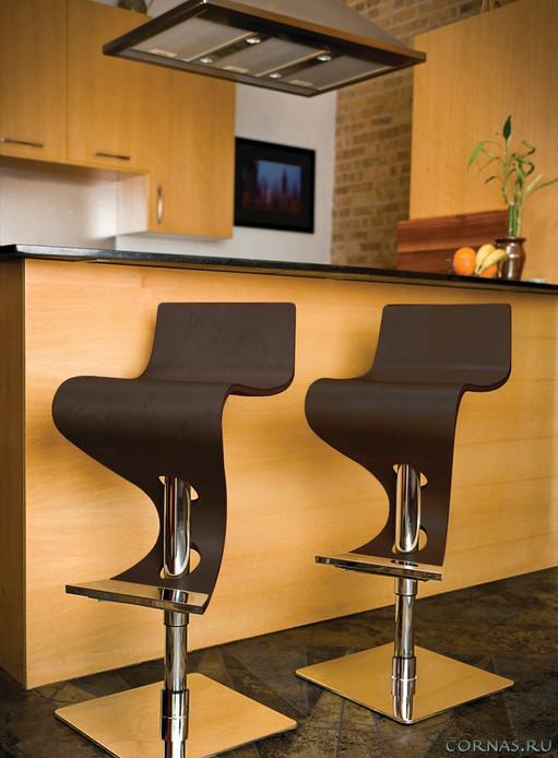 Барные стулья для кухни - фото современной мебели в интерьере
