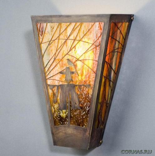 Витражные светильники в интерьере
