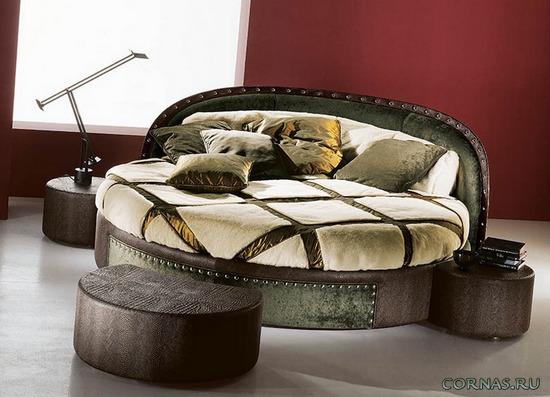 Круглая кровать в интерьере - современный комфорт!