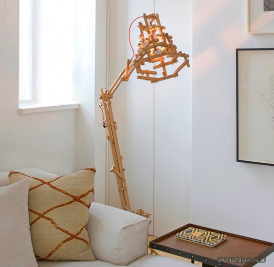 Оригинальные напольные светильники и торшеры - фото в интерьере