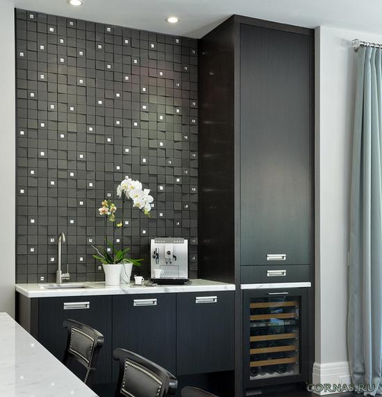 Отделка стен на кухне - современные, оригинальные способы.