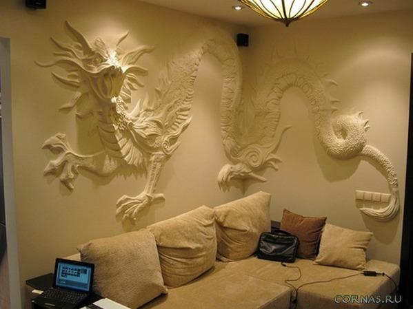 Красивый барельеф на стене своими руками. Фото готовых композиций