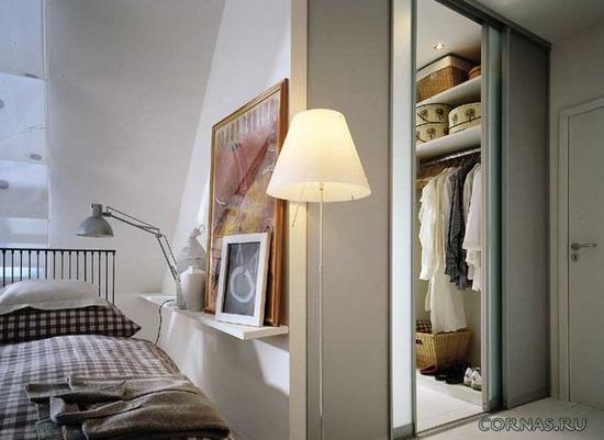 Дизайн спальни с гардеробной фото