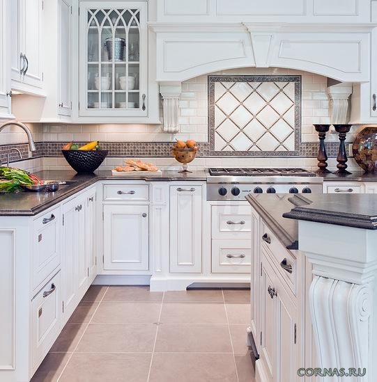 Кафельная плитка на кухне - фото вариантов применения и выкладки