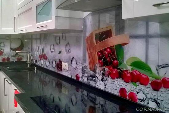Новое решение: стеклянный фартук для кухни - фото и характеристики