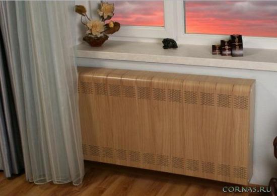 Экран для батареи отопления - фото различных вариантов и виды