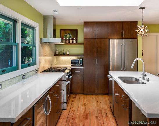 Современные встроенные кухни - оптимизируем пространство!