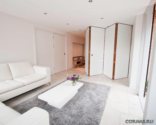 Дверь-гармошка - куда установить ее в квартире?Фото