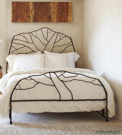 Эффектные кованые кровати - роскошь и изящность в интерьере