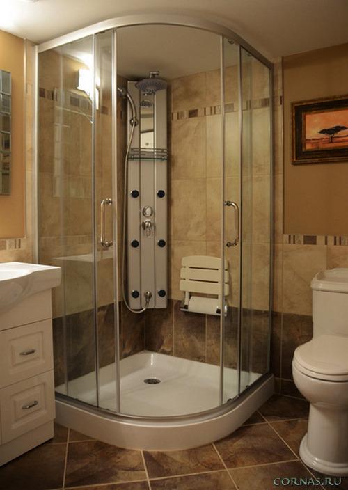 Дизайн ванной с душевой кабиной - фото красивых проектов