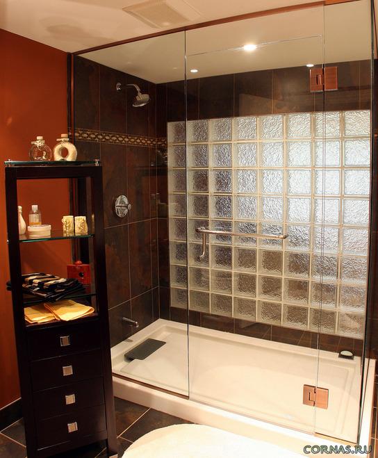 Перегородка в ванной комнате - разные способы реализации