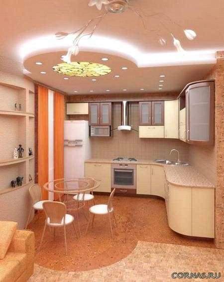Двухуровневые потолки из гипсокартона фото