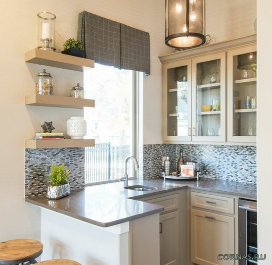 Как обустроить интерьер маленькой кухни: фото проектов, описание.