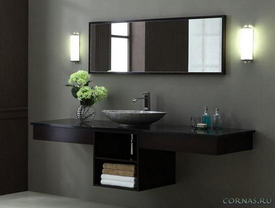 Мебель для ванной комнаты: комплектовка, материал изготовления, фото