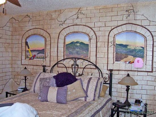 Художественная роспись стен - творческие идеи в интерьере