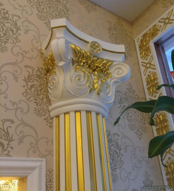 Колонны из полиуретана: как ими украшают интерьер и в чем их достоинства?