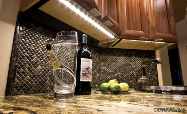 Подсветка для кухни: какая лучше всех? Фото и видео