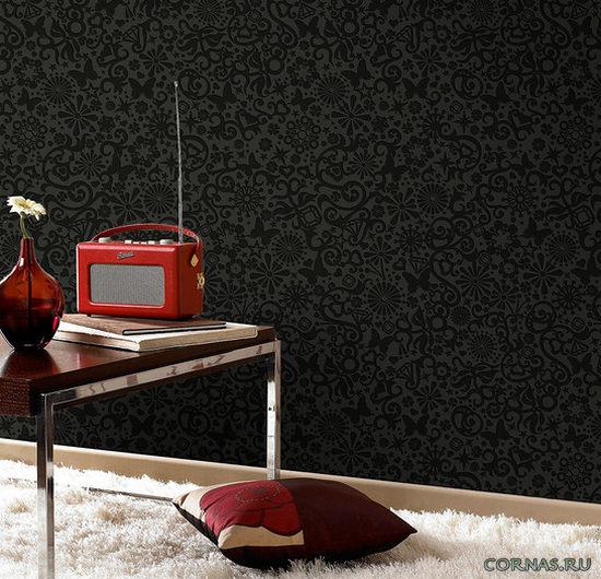 Черные обои для стен, фото в интерьере и правила использования